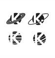 planet letter k logo vector image vector image