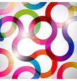 Rainbow Curls background vector image vector image