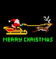 retro pixel art christmas santa vector image vector image