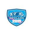 Rugby Scrum England 2015 Shield vector image vector image