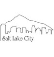 salt lake city one line drawing vector image vector image