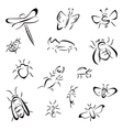 Set of bugs vector image