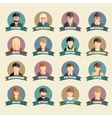 Set of colorful profession people flat style icons vector image vector image