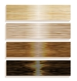 Set the boards of various wood Laminated flooring vector image