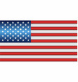 shiny flag of the usa vector image vector image
