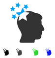 stars hit head flat icon vector image vector image