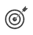 target with dart black icon from many vector image vector image