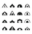 tent forms icons set simple style vector image vector image