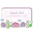 town card vector image vector image
