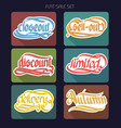 typographical sale inscriptions collection vector image