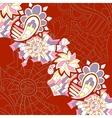 Vintage like floral card vector image vector image