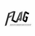 waving flag style font vector image vector image
