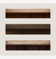 wood table top used for display or montage your vector image vector image