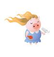 zodiac pig virgo chinese horoscope symbol 2019 vector image