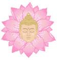 buddha head and lotus cross stitch vector image
