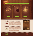 cafe template vector image
