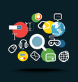 Searching information concept vector image