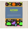 abstract background with autumn vector image