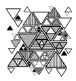 abstract background with hipster triangles vector image vector image