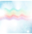 Abstract image of a wavy rainbow Colored vector image vector image