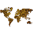 Abstract world map design vector image vector image