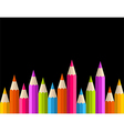Back to school rainbow pencil banner pattern vector image vector image