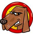 bad dog sign cartoon vector image vector image