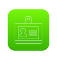 Badge office icon green