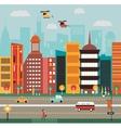 big city street vector image