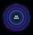 big data visualization circular infographic vector image vector image