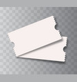 blank cinema tickets isolated vector image