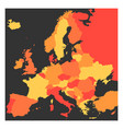 blank political map of europe continent in four vector image vector image