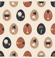 boho easter concept design seamless pattern vector image