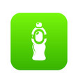 bottle juice icon green vector image vector image