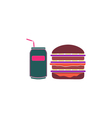 Burger soda Icon vector image vector image