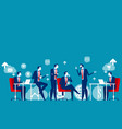 business meeting concept business vector image