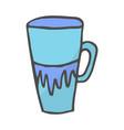 color coffee cup doodle vector image vector image