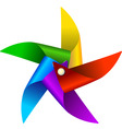 colorful windmill toy vector image vector image