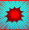 comic explosive light concept vector image vector image