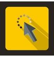 Cursor arrow waiting icon flat style vector image vector image