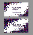 Dark abstract business card template design vector image vector image