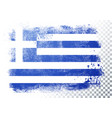 distortion grunge flag greece vector image vector image