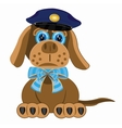 Dog police vector image vector image