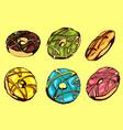 donuts set vector image vector image