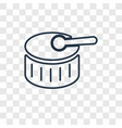drum toy concept linear icon isolated on vector image