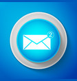 envelope icon new email incoming message sms vector image vector image