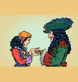 fortune teller and pirate with a hook vector image vector image
