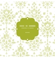 Green textile damask flower frame seamless pattern vector image