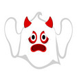 isolated cute halloween demon ghost vector image vector image