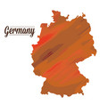 isolated germany map vector image vector image